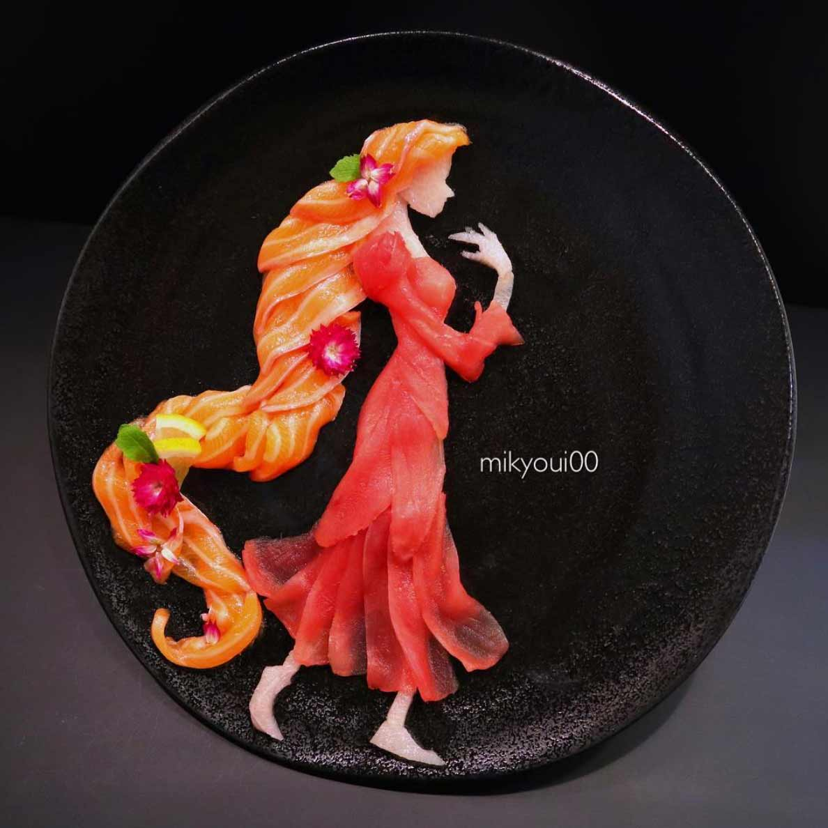 Wundervolle Sashimi-Kunstwerke von mikyou mikyou-sashimi-art-sushi-fischbilder_09
