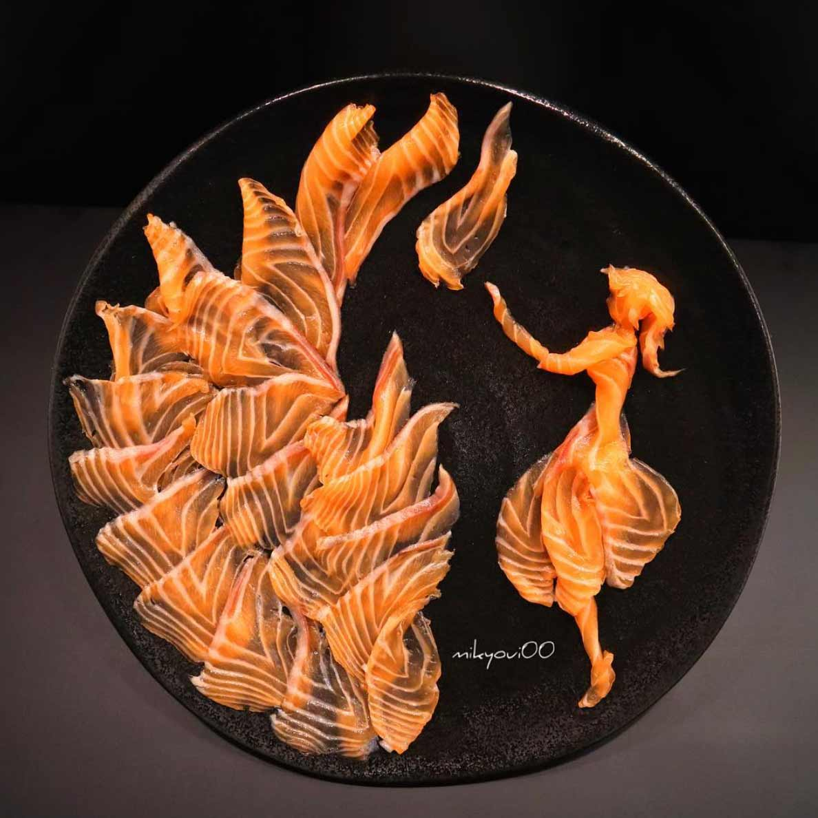 Wundervolle Sashimi-Kunstwerke von mikyou mikyou-sashimi-art-sushi-fischbilder_10