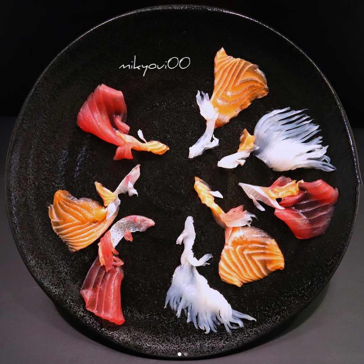 Wundervolle Sashimi-Kunstwerke von mikyou mikyou-sashimi-art-sushi-fischbilder_13