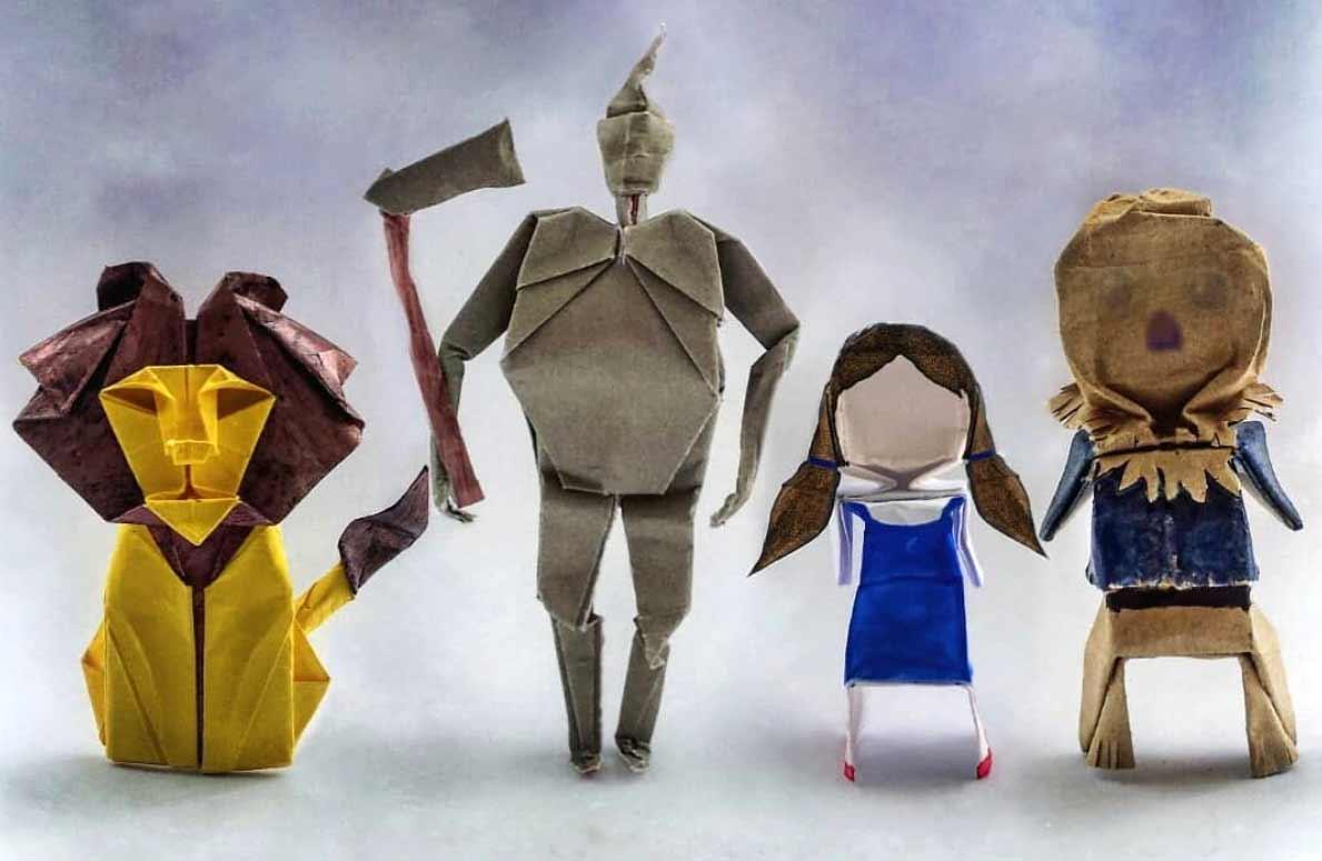 Popkultur-Origami-Figuren von Louise Cassidy origami-figuren-Louise-Cassidy_01