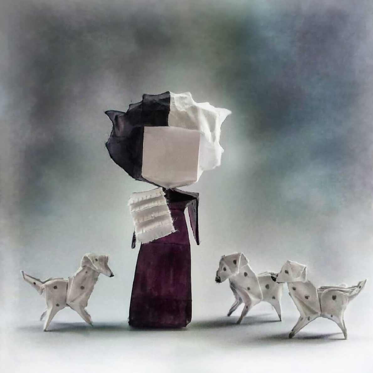 Popkultur-Origami-Figuren von Louise Cassidy origami-figuren-Louise-Cassidy_03