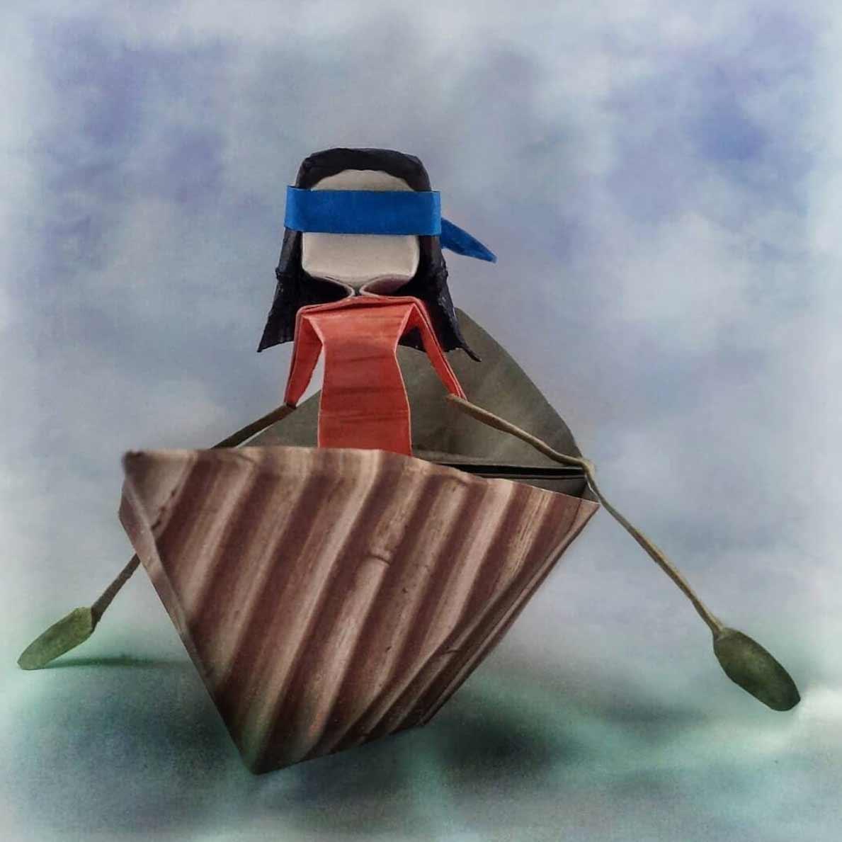 Popkultur-Origami-Figuren von Louise Cassidy origami-figuren-Louise-Cassidy_14