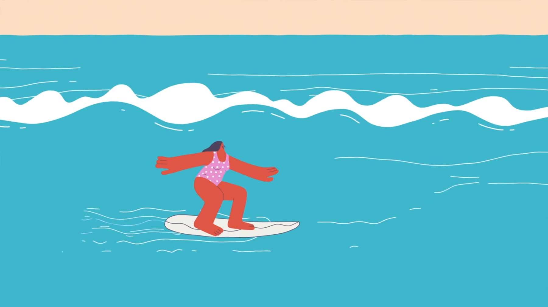 Die Physik des Surfens