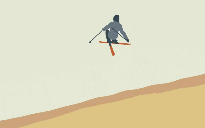 "Coole Animation: ""Ski Lines"""