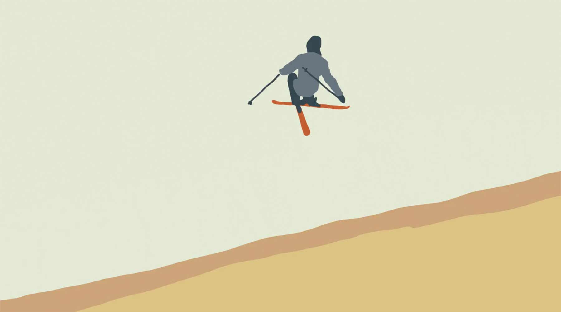 "Coole Animation: ""Ski Lines"""