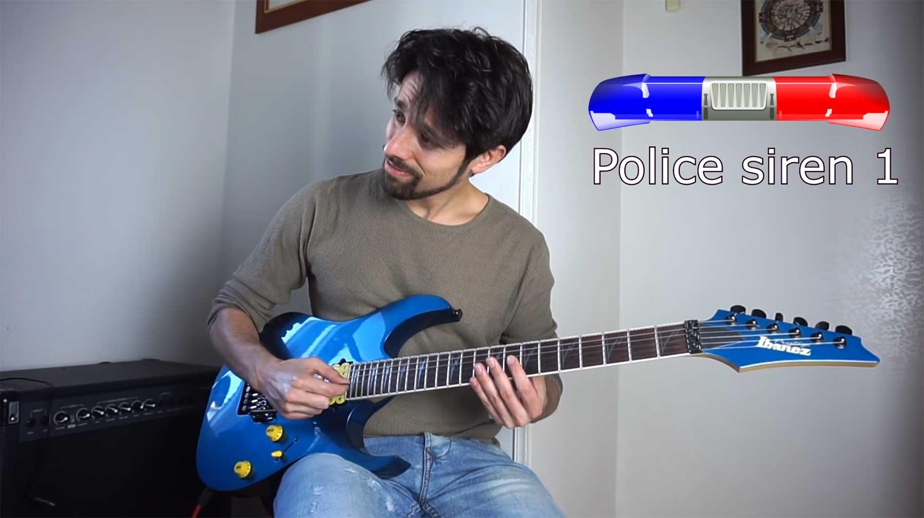 Stadtgeräusche auf der E-Gitarre nachgemacht