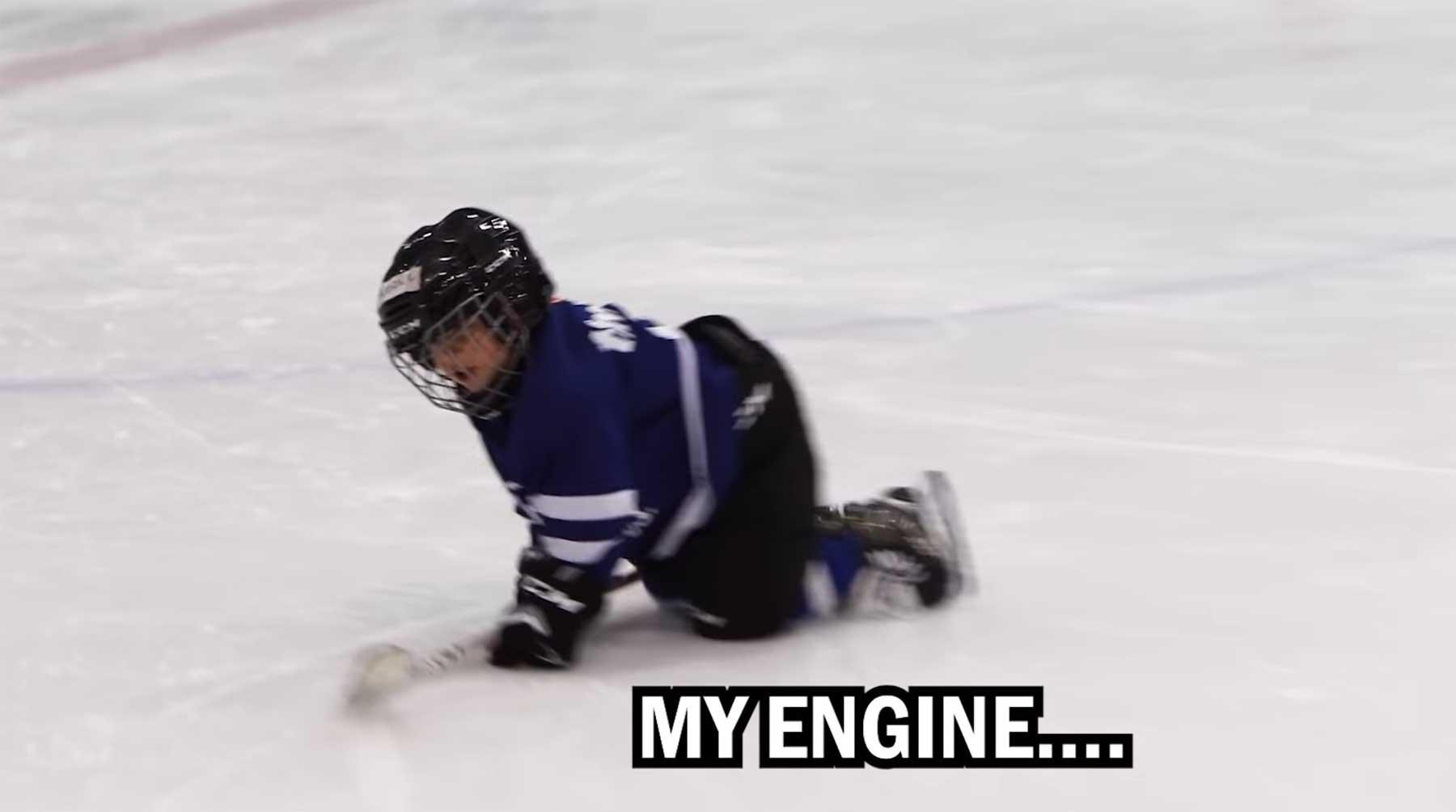 Das sagt und sieht ein 4-Jähriger beim Eishockey-Training