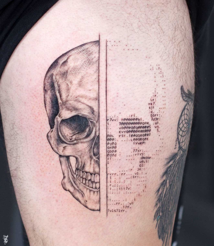 Andreas Vrontis sticht ASCII-Portrait-Tattoos Andreas-Vrontis-ASCII-Tattoos_05