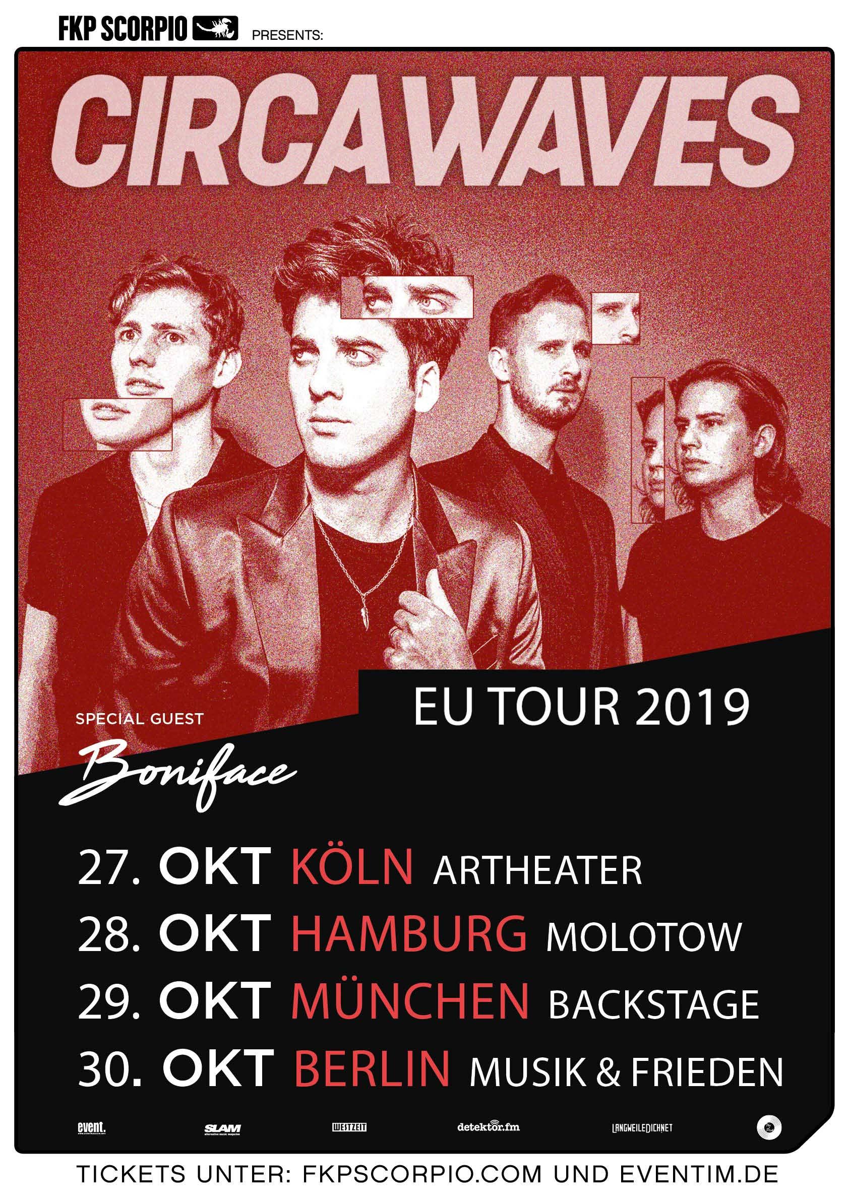 Gewinnt 4x2 Tickets für die Circa Waves-Tour 2019 Circa-Waves_Plakat_10_2019