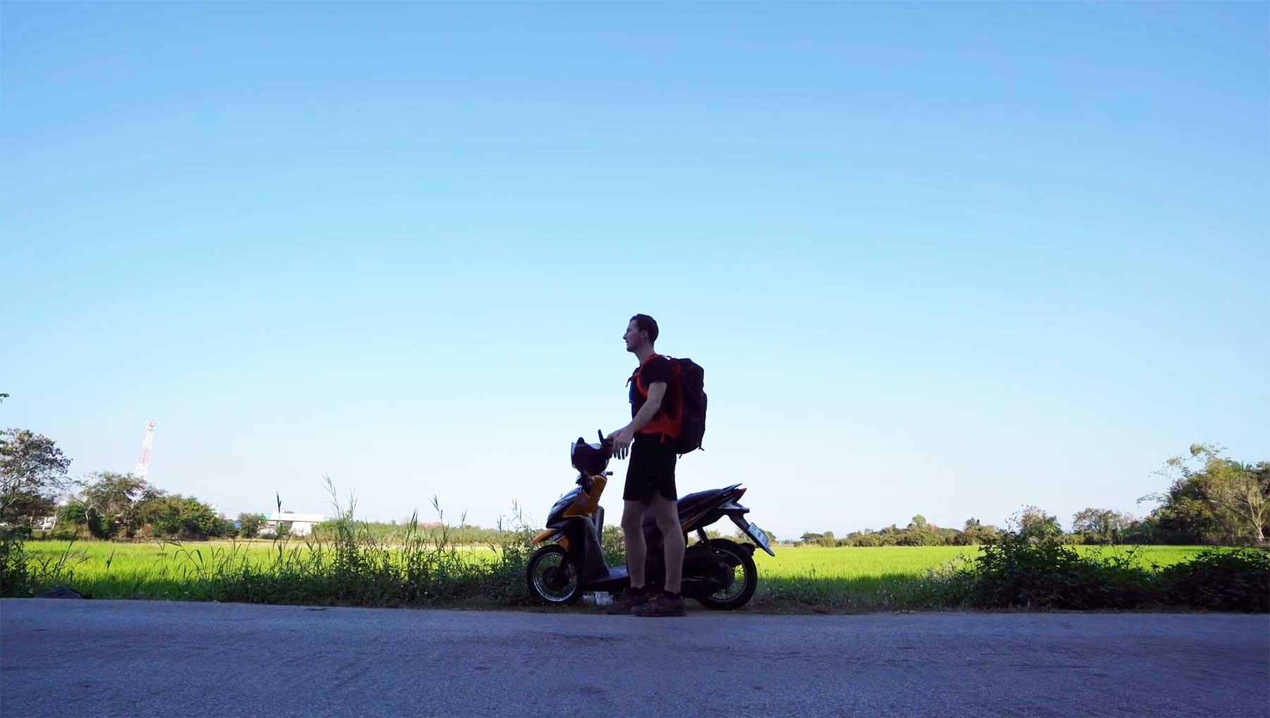 Auf dem Roller 700km durch Thailand fahren