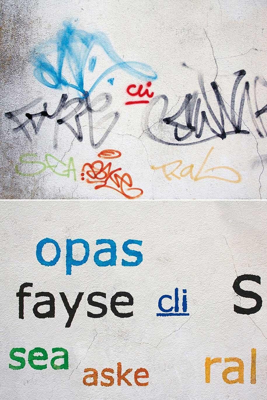Mathieu Tremblin macht Graffiti-Tags leserlich Mathieu-Tremblin-tag-clouds-graffiti_08