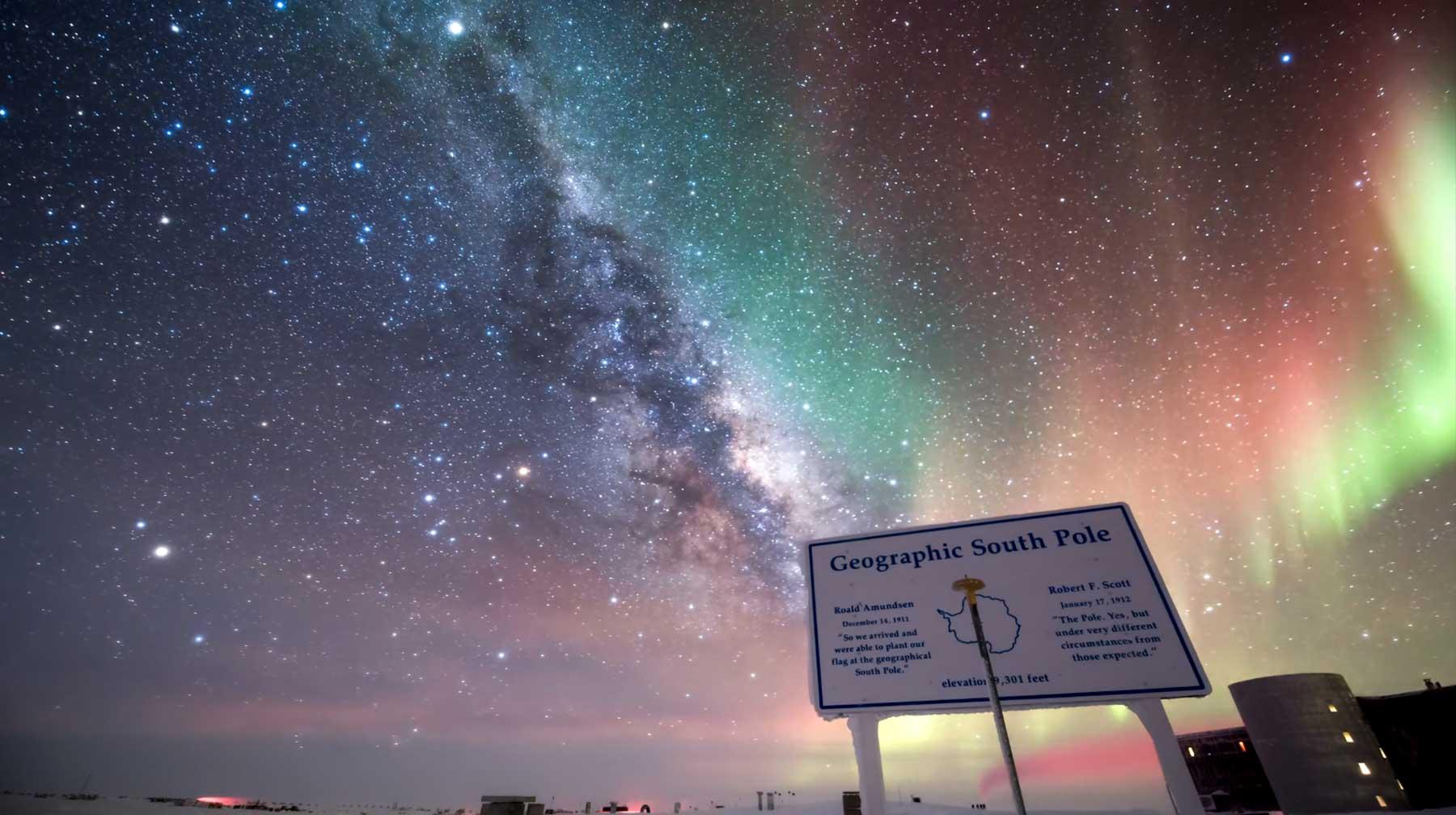 Polarlicht-Porn am Südpol