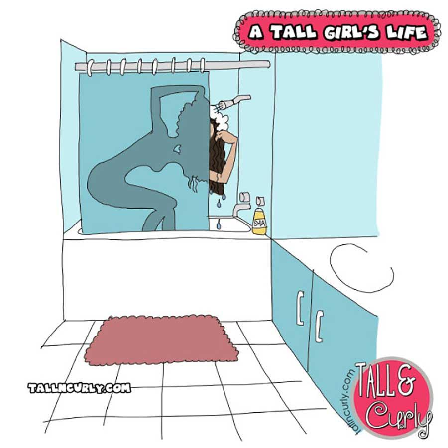 Webcomic über die Probleme großgewachsener Frauen Tall-n-curly-webcomics_06