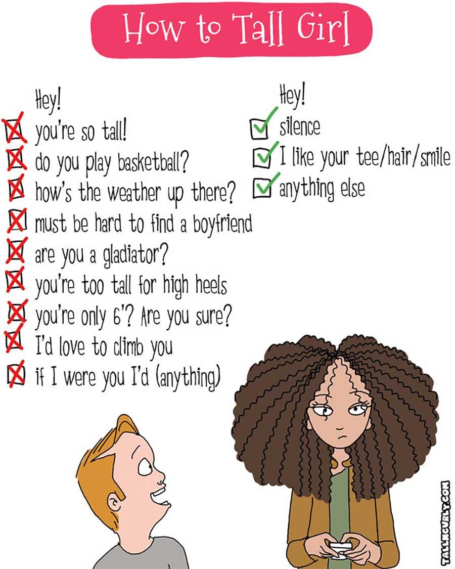 Webcomic über die Probleme großgewachsener Frauen Tall-n-curly-webcomics_09