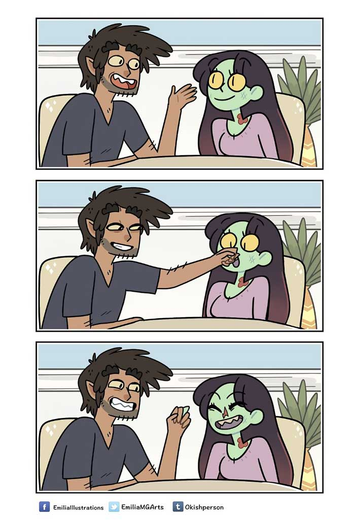 Wenn Zombie und Werwolf als Paar zusammenwohnen ZomCom-Webcomics_04