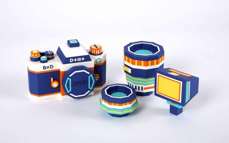 Fotokamera aus Papier