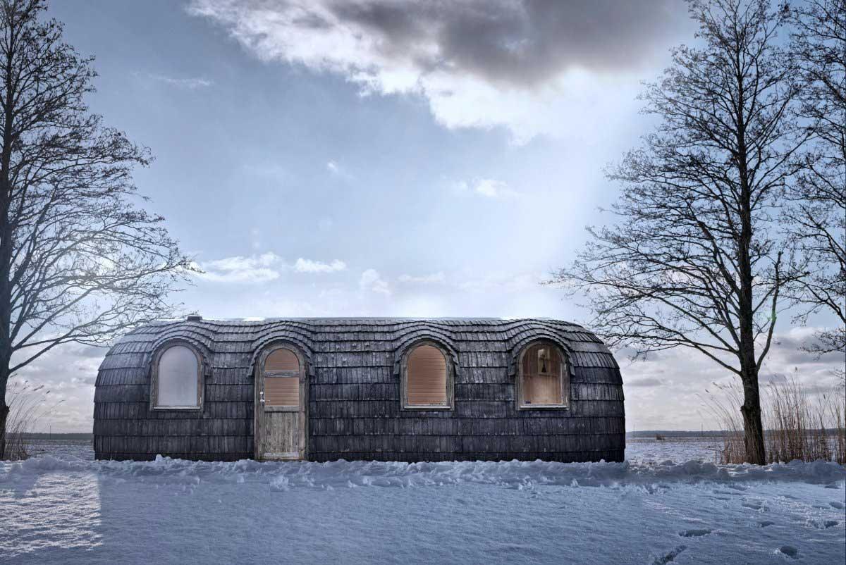 Diese Holz-Iglus sind ziemlich stylische Tiny Homes iglucraft_holz-iglu_02