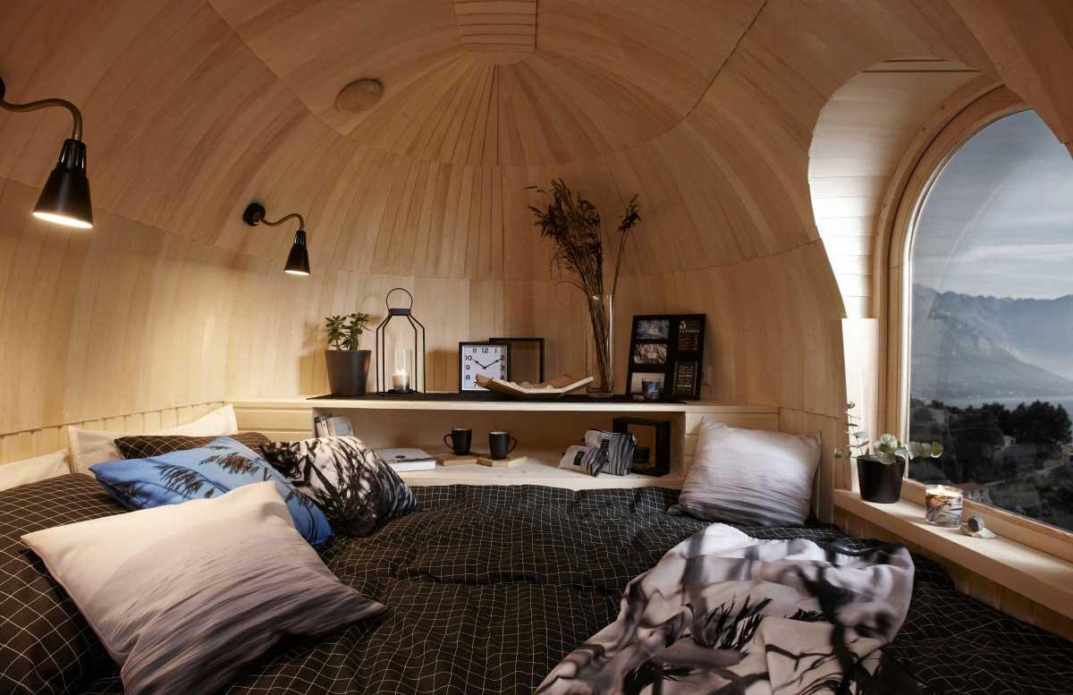 Diese Holz-Iglus sind ziemlich stylische Tiny Homes iglucraft_holz-iglu_03