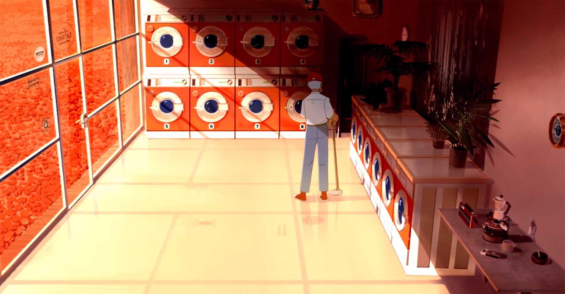 """Animierter Kurzfilm: """"Laundromat"""""""