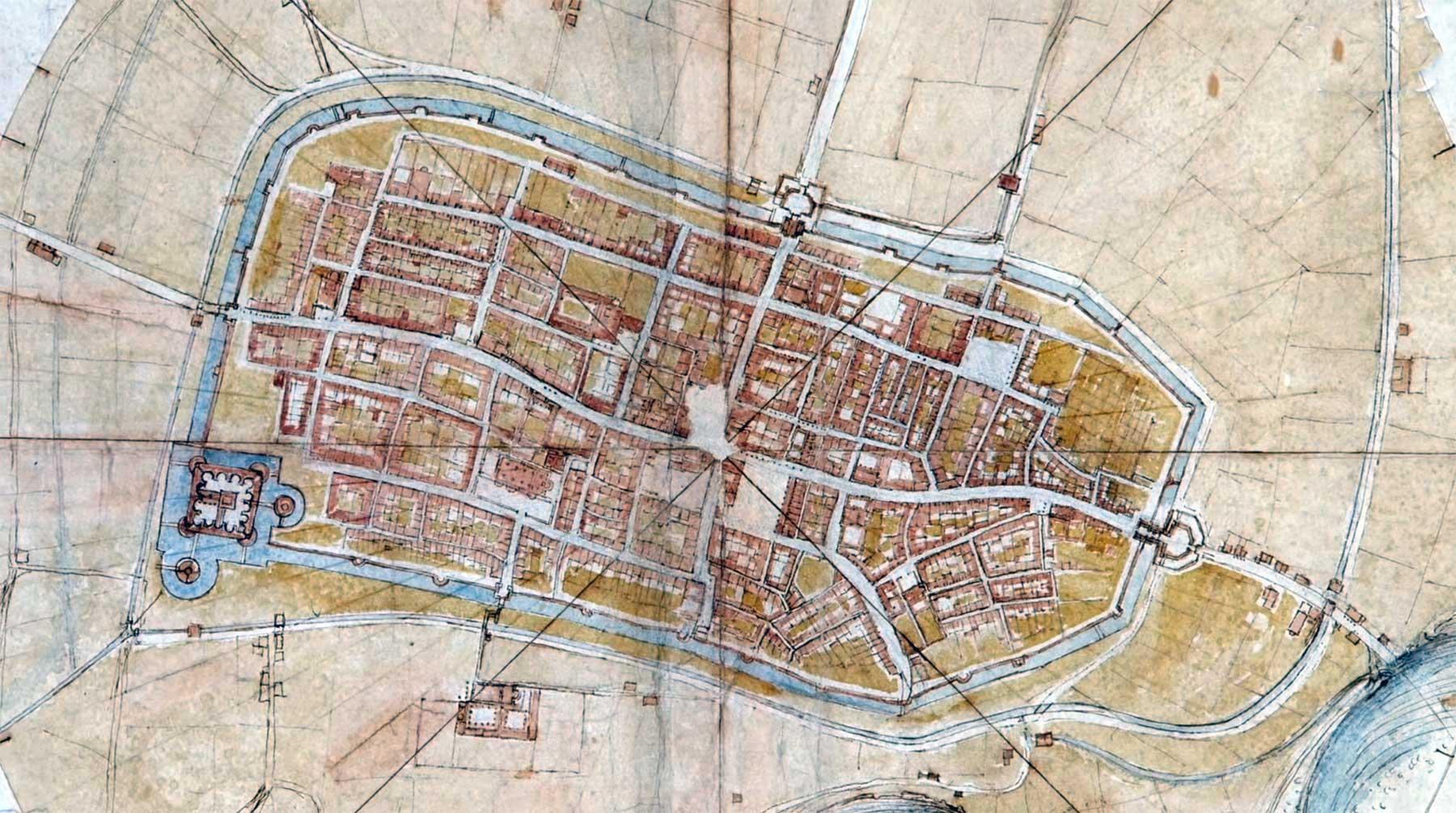 So hat Leonardo da Vinci 1502 eine Satelliten-Karte gezeichnet