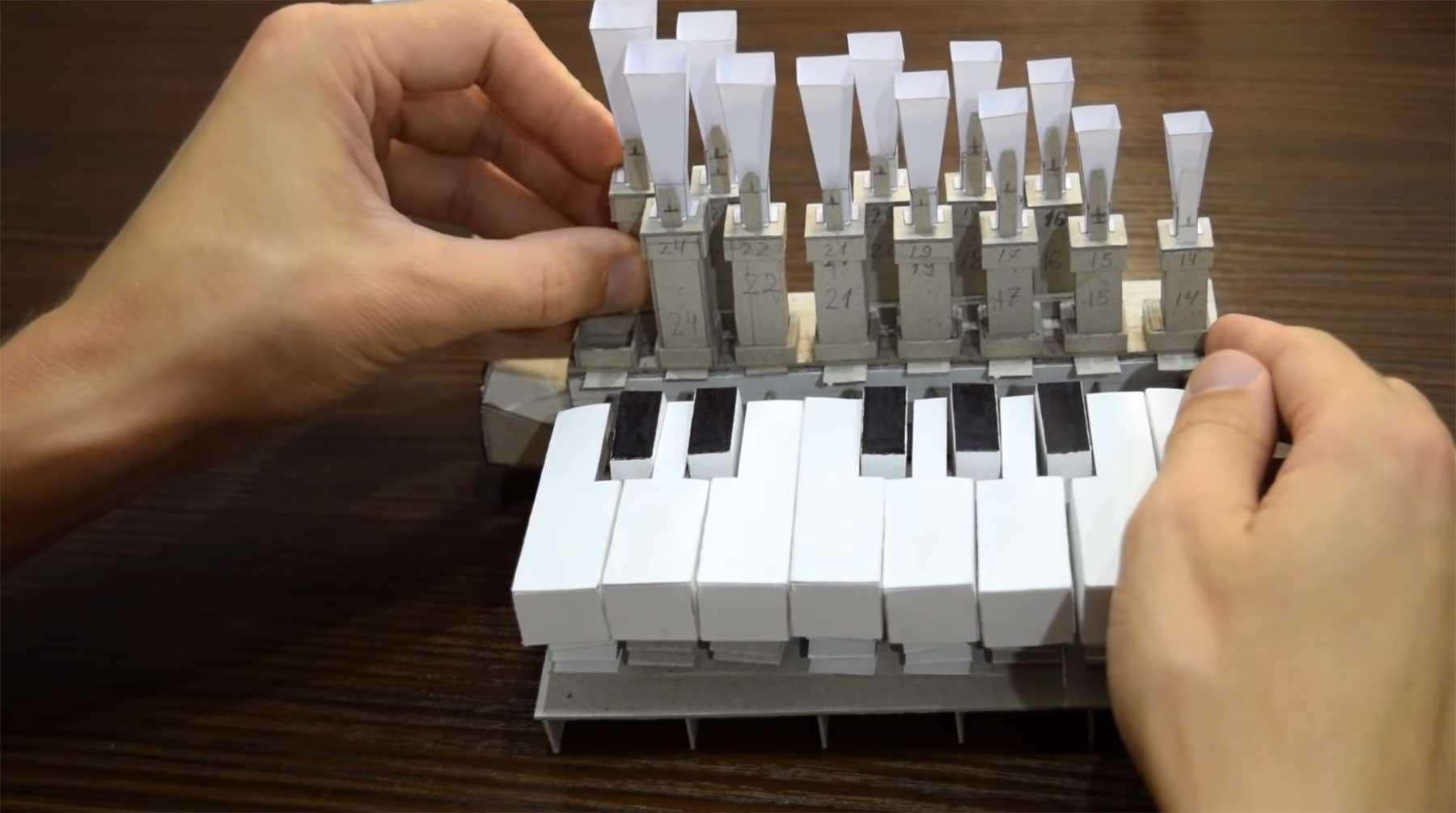 Eine funktionierende Orgel aus Papier bauen