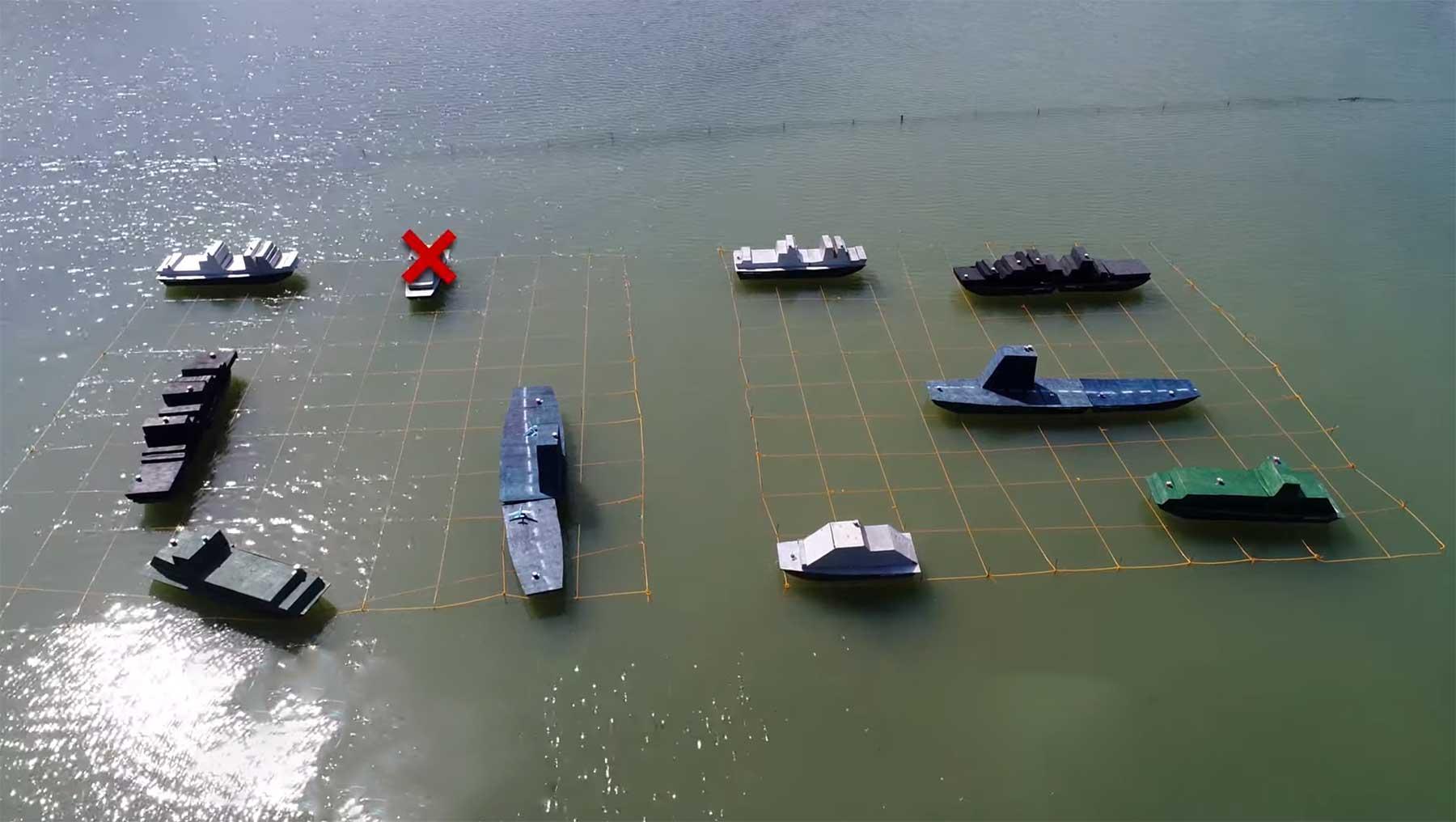 """""""Schiffe versenken"""" mit echten Schiffen spielen"""