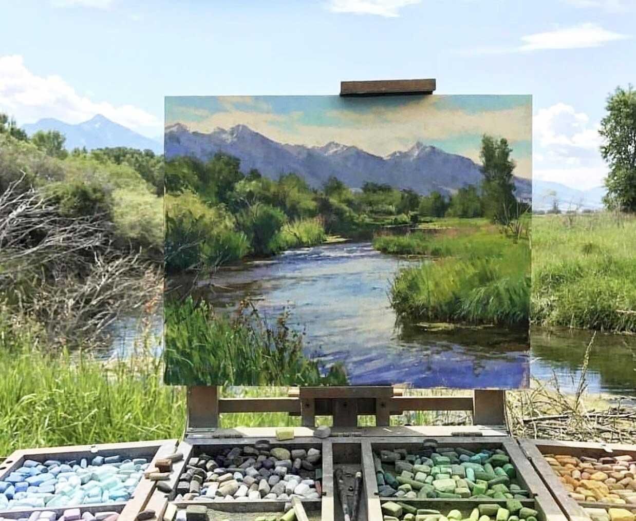 Die Natur als Rahmen seiner gemalten Landschaft