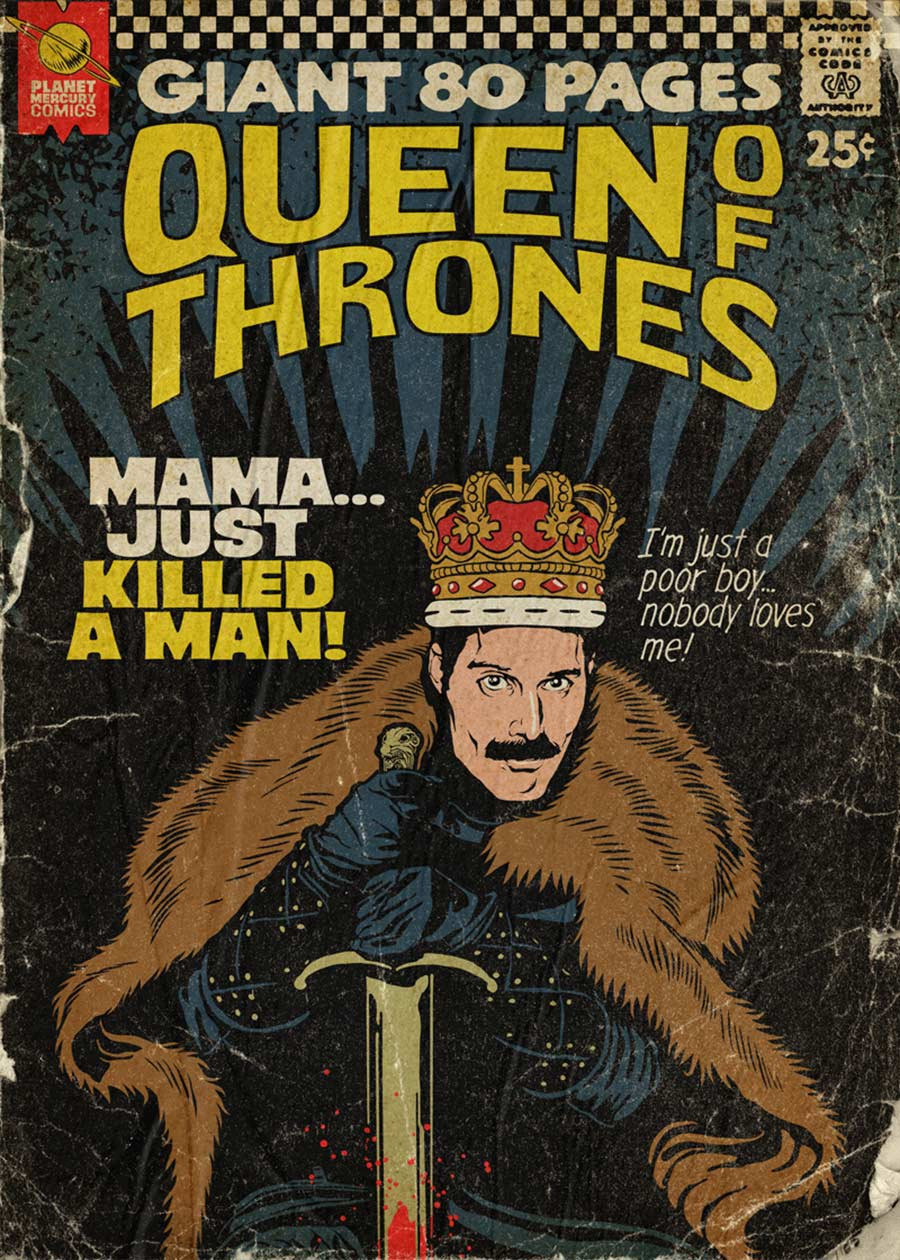 Queen-Songs als Comicbuch-Cover Butcher-Billy-Planet-Mercury-comics_02