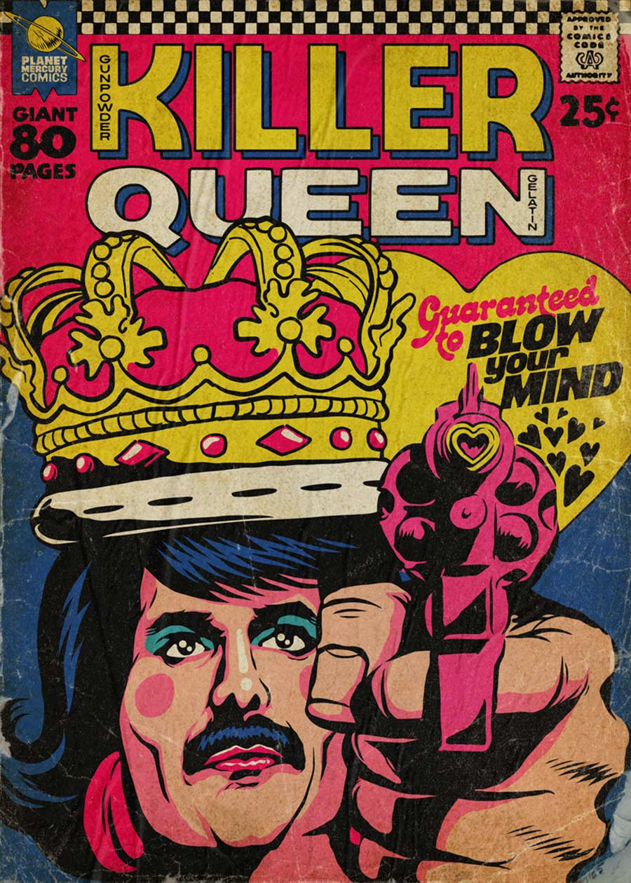 Queen-Songs als Comicbuch-Cover Butcher-Billy-Planet-Mercury-comics_06