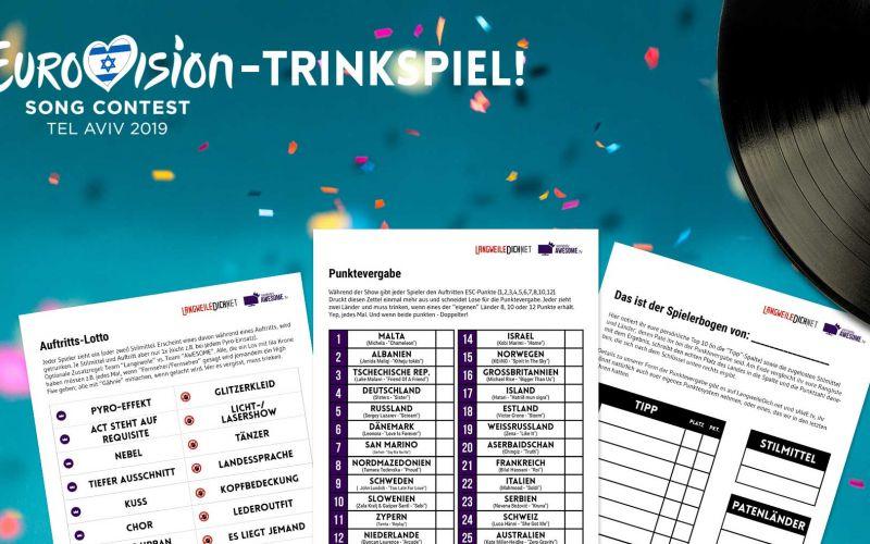 ESC: Tippspiel und Trinkspiel für den Eurovision Song Contest 2019 zum Herunterladen
