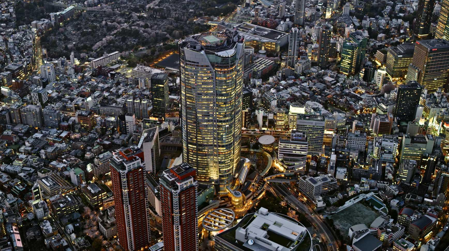 Luftaufnahmen japanischer Großstädte bei Nacht Japan-Night-Aerials-in-8K