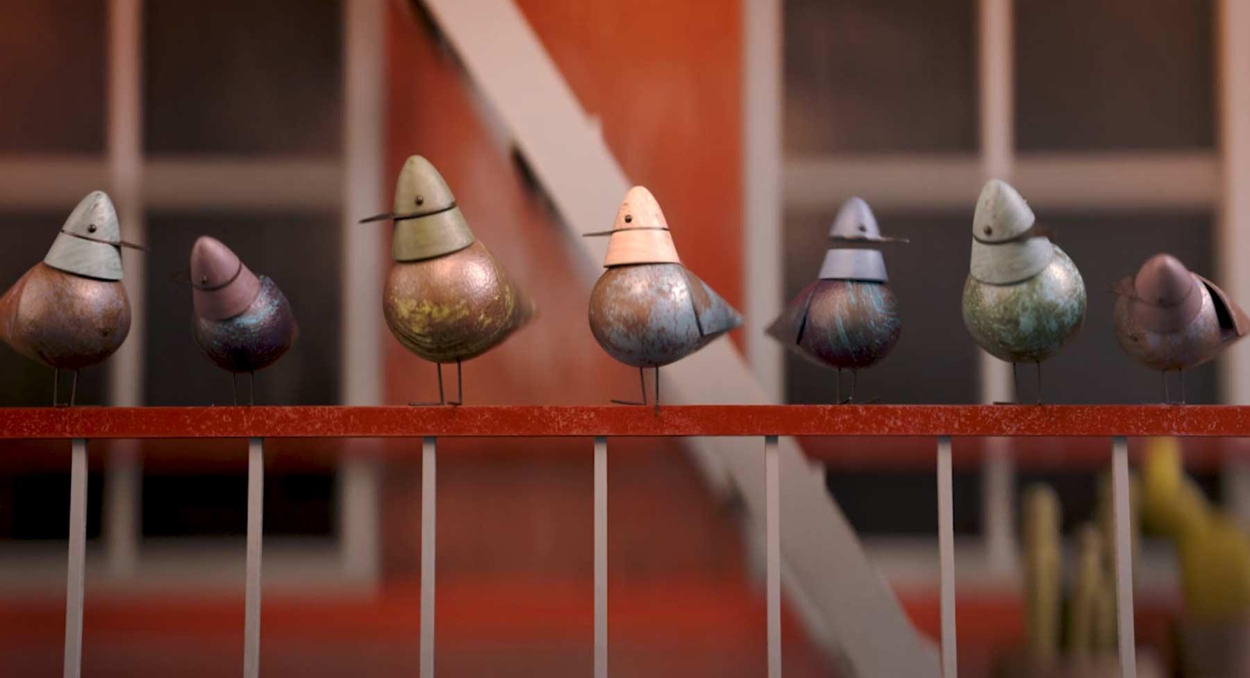 Animierte Tauben-Liebe Next-Flight-Home-animierter-kurzfilm