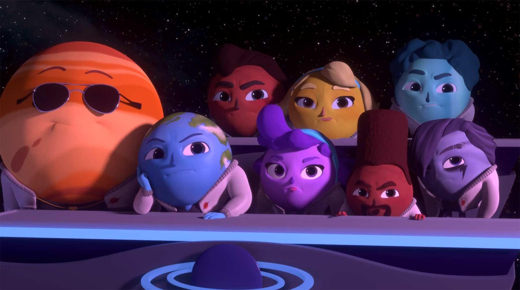 """Pluto möchte bei der Tanztruppe """"The Planets"""" einsteigen"""