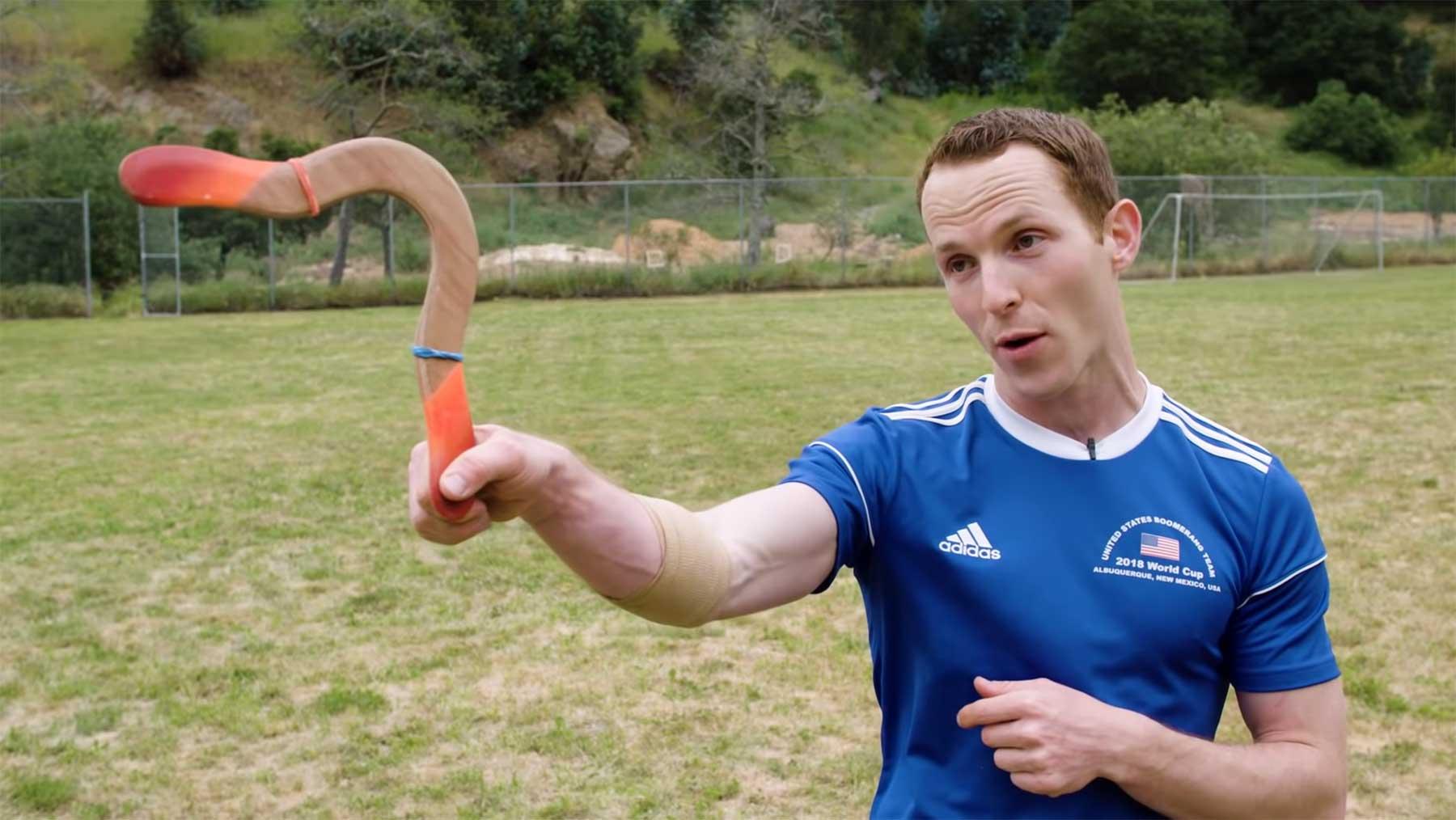 Logan Broadbent ist Weltmeister im Bumerang-Werfen