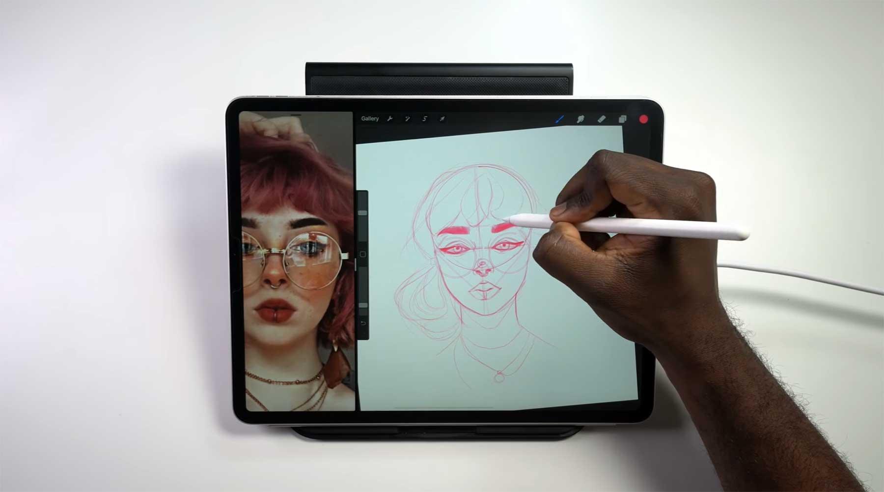 """Zeichnen eines """"Pinterest Girls"""" in Echtzeit drawing-a-pinterest-girl"""