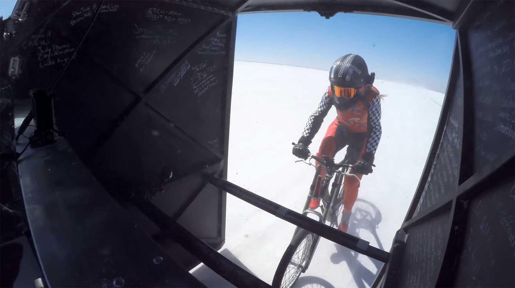296 km/h auf dem Fahrrad fahren fahrradfahrgeschwindigkeitsweltrekord
