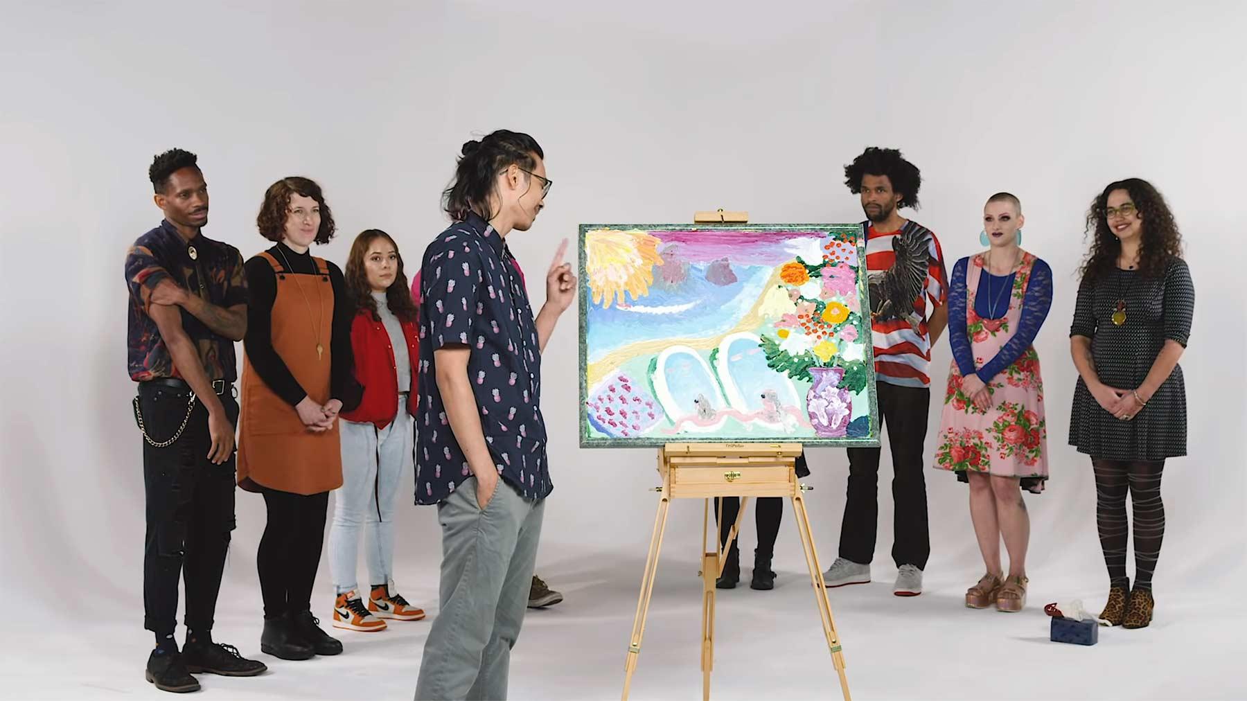 Leute ordnen Kunstwerke fremden Personen zu kunst-kuenstler-zuordnen