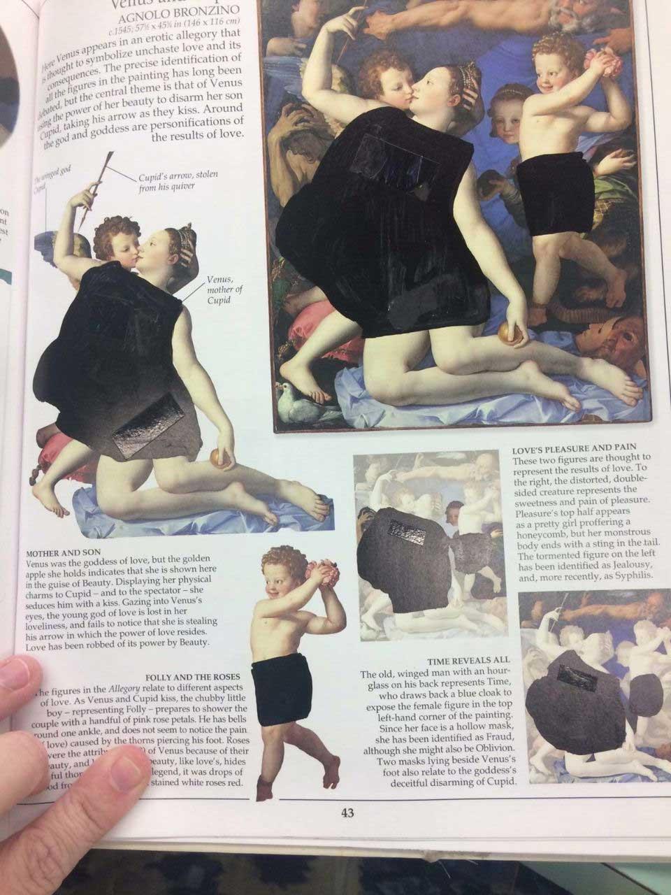 So absurd wurde ein Kunstbuch in einer christlichen Schule zensiert looking-at-paintings-christliche-zensur_02