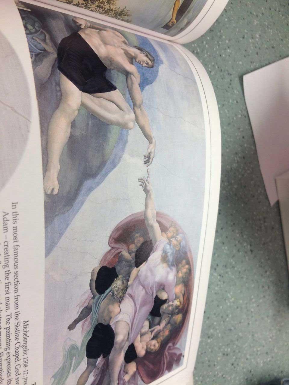 So absurd wurde ein Kunstbuch in einer christlichen Schule zensiert looking-at-paintings-christliche-zensur_08
