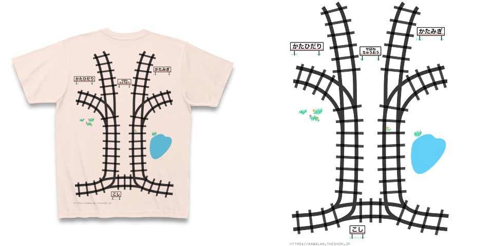 Dieses T-Shirt mit Gleisen gibt einem spielerisch eine Rückenmassage massage-t-shirt-zuggleise_03