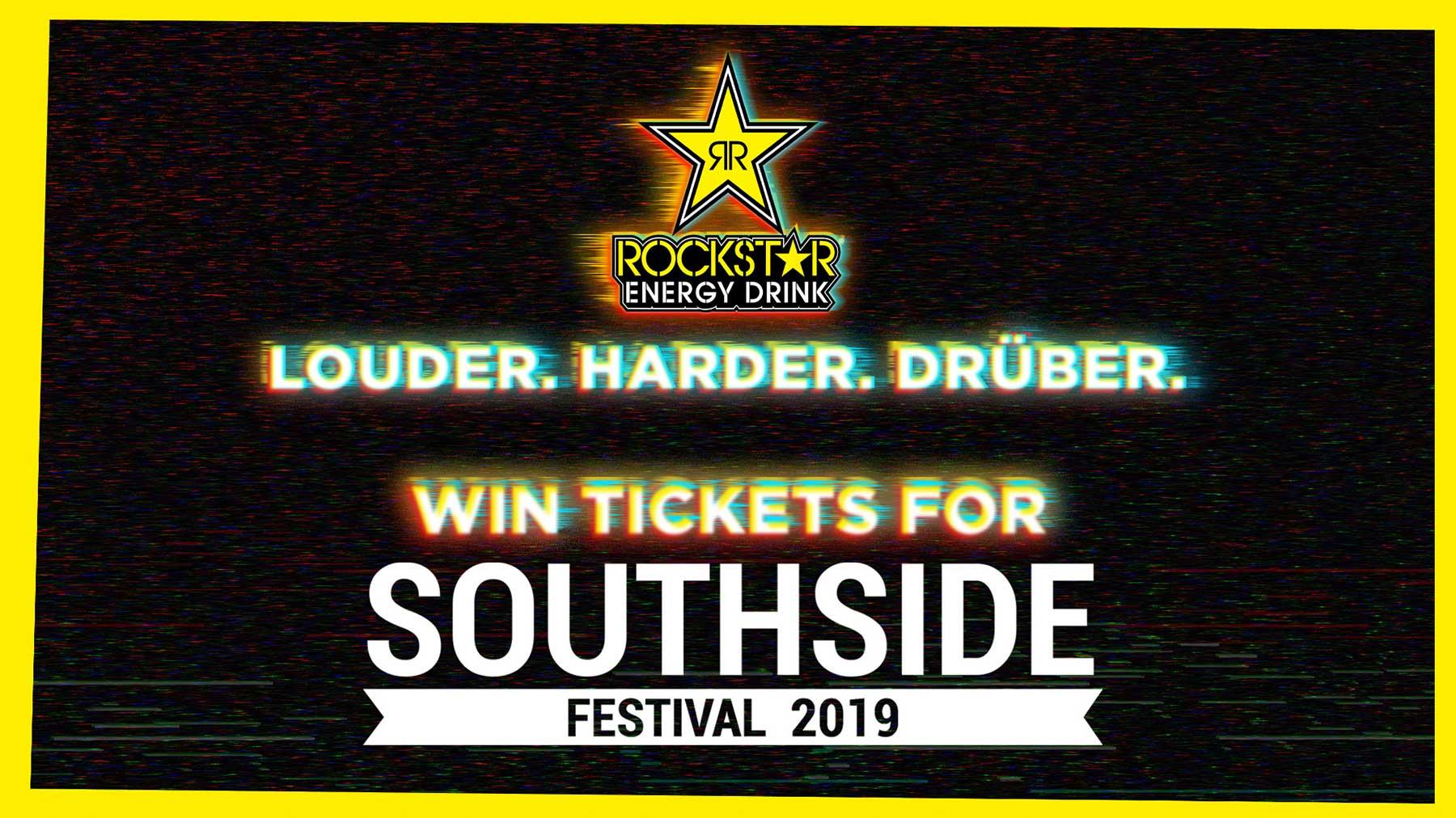 2x3 Tickets für das Southside Festival mit Rockstar Energy rockstar-southside-2019