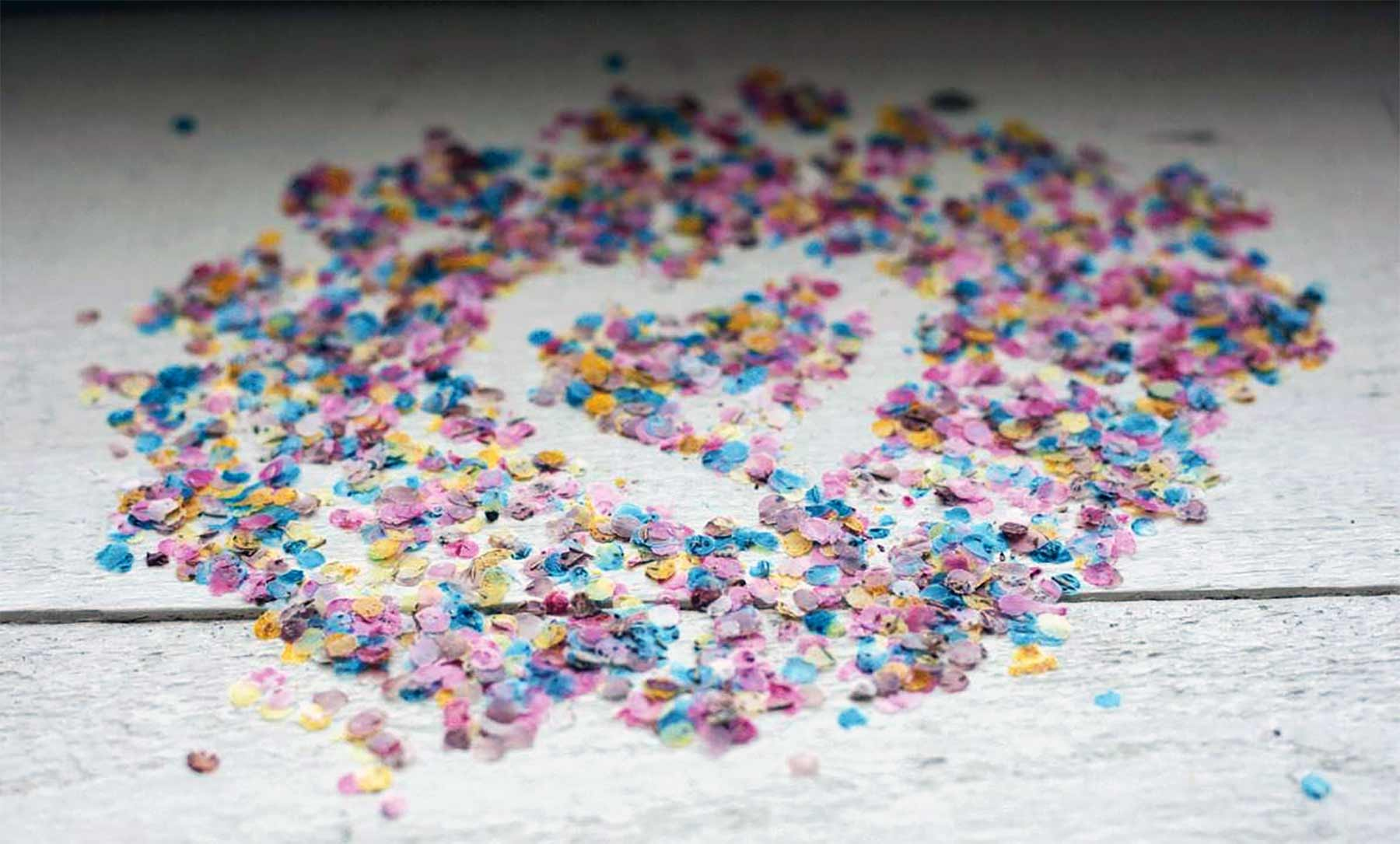 Gute Laune-Sache: Saatgutkonfetti