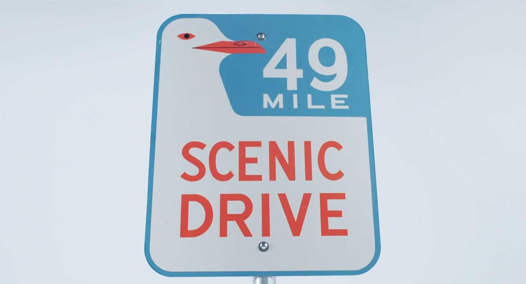 Die Geschichte des kultigen 49 Mile Scenic Drive-Straßenschildes