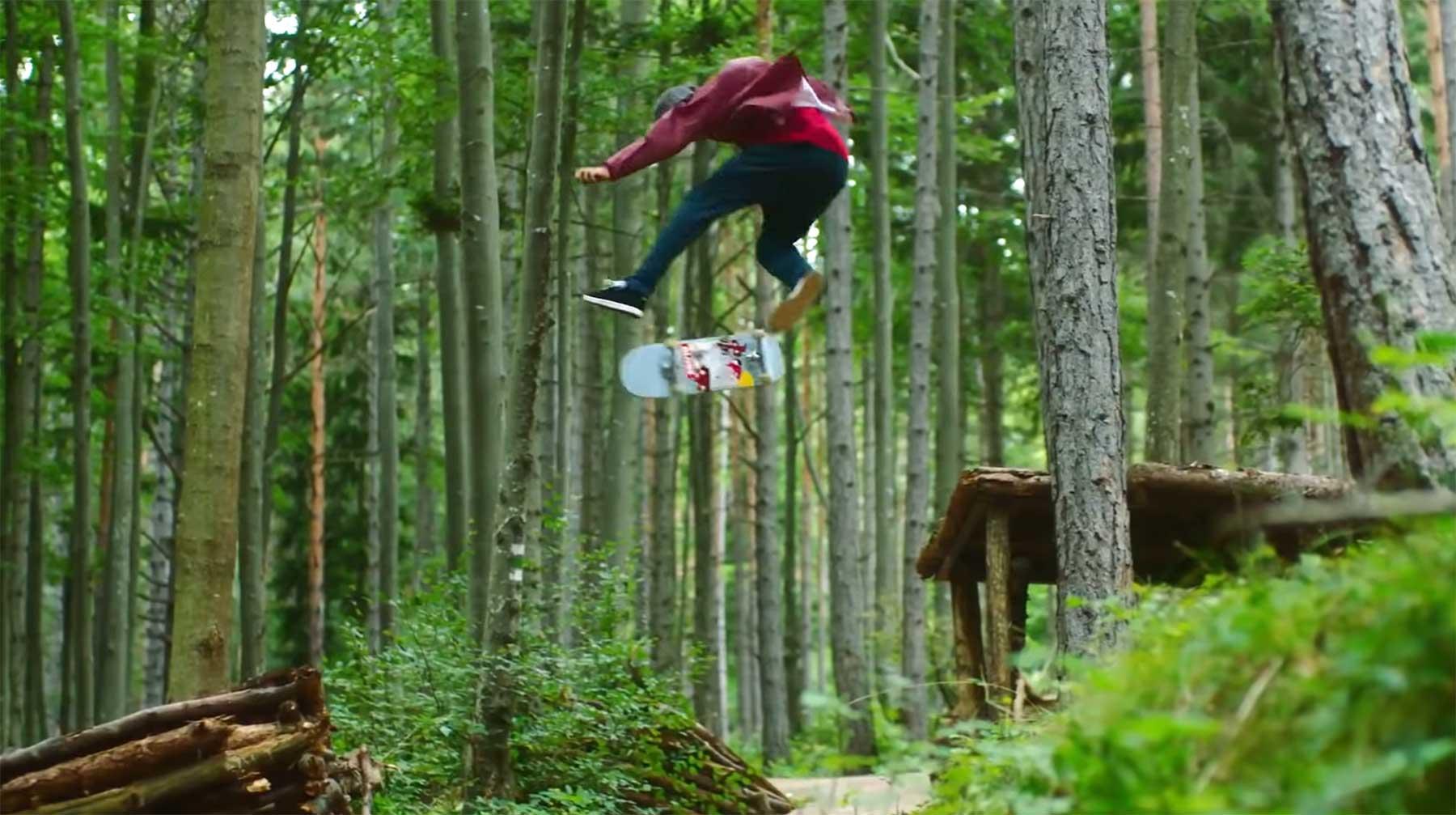 Skateboarding im Wald wheels-on-woods-red-bull-skateboarding-video-wald