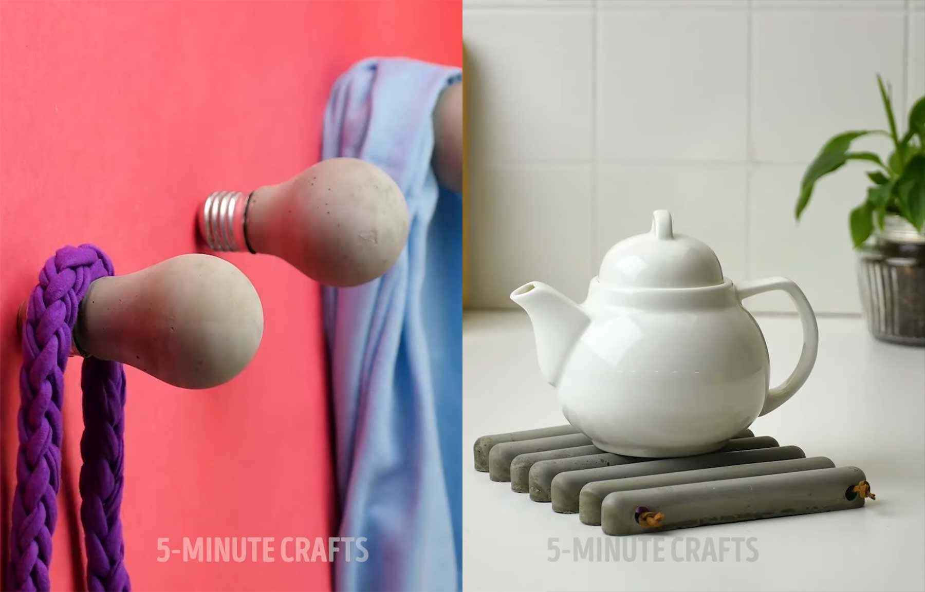 35 DIY Bastel-Ideen mit Zement
