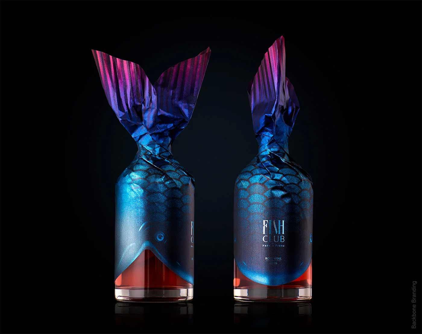 """Verpackungsdesign für """"Fish Club""""-Weinflaschen Fish-Club-Wine-produktdesign-fischflaschen_03"""