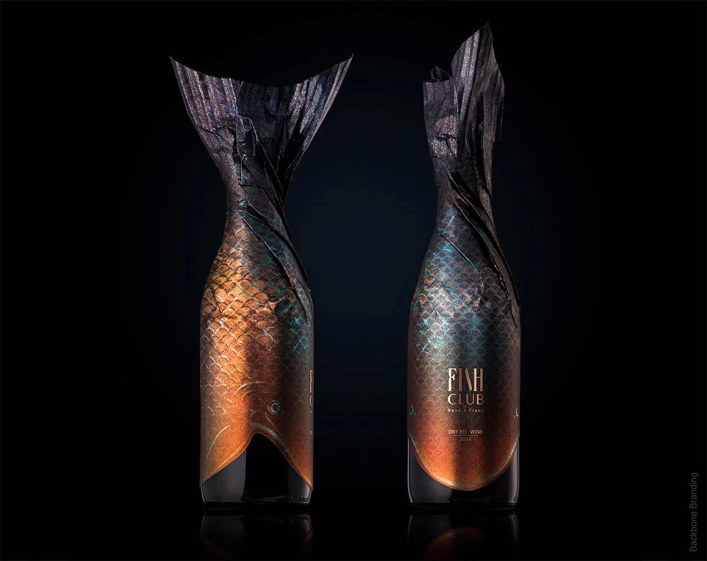 """Verpackungsdesign für """"Fish Club""""-Weinflaschen Fish-Club-Wine-produktdesign-fischflaschen_07"""