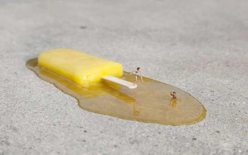 Neue Miniatur-Szenerien von Slinkachu