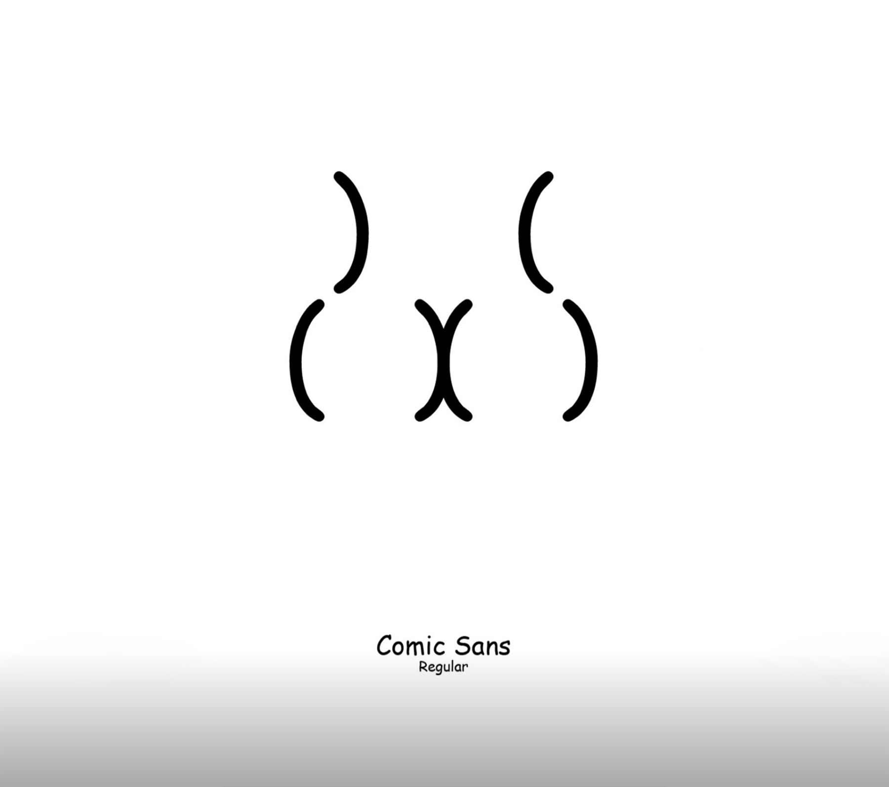 Zeichen-Hintern in unterschiedlichen Schriftarten Viktor-Hertz-butt-types_07