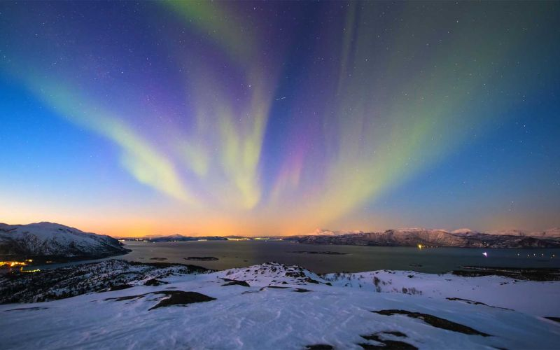 Arktische Polarlichter in 4K